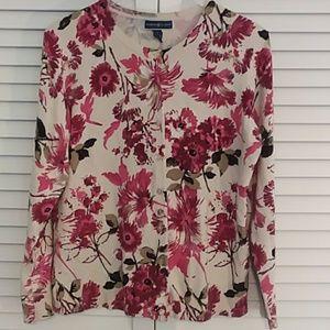 Karen Scott Floral Sweater, cardigan